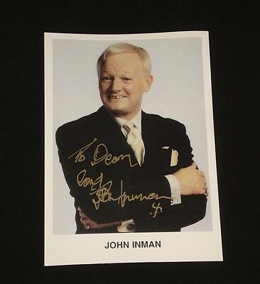JOHN INMAN PROMO CARD SIGNED Mr. Humphries  Are You Being Served UK Actor