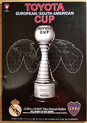 2000 Toyota Cup Final Programme - Real Madrid v Boca Juniors