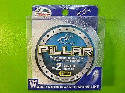 Fluorocarbon Coated Fishing line 10lb 300m spool, tackle