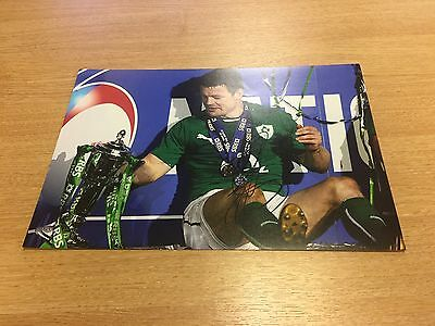 BRIAN O'DRISCOLL IRELAND RUGBY LEGEND  HAND SIGNED 12x8 Photo Comes With COA