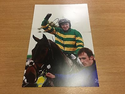 Tony Mccoy Grand National 8x12  Hand Signed Photo With COA AP MCCOY