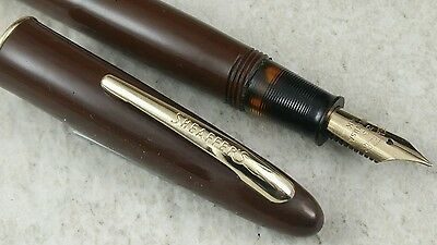 Restored Brown Sheaffer Balance Craftsman Fountain Pen