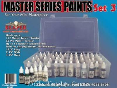 Reaper Master Series Paint Master Series Paint Set #3 (09055-09111 w/Caddy) SW