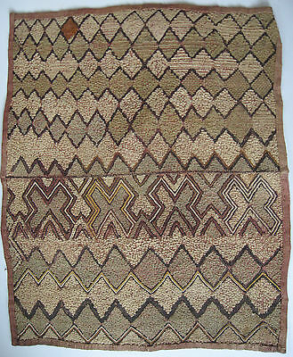 "Vintage African Raffia Kuba Cloth Square/Kasai Velvet/Estate Purchase/21"" x 18"""