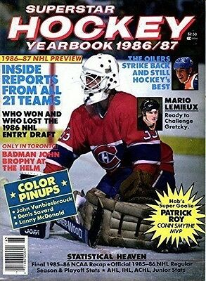 SuperStar Hockey Yearbook 1986/87- Patrick Roy Cover Photo