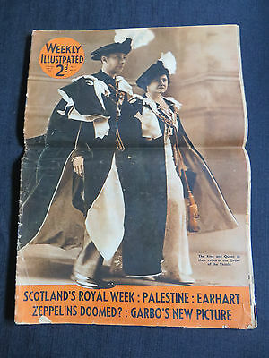 Weekly Illustrated Magazine Newspaper Ephemera July 17 1937 Queen Mother