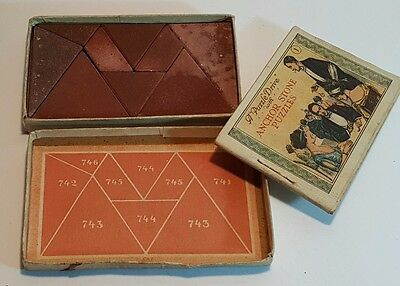 """A Puzzle Drive With Anchor Stone Puzzles - Vintage Tangram 1 """"all Nine"""""""