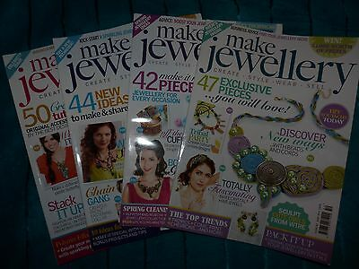 4 x Make & Sell Jewellery Magazines - Issue 46, 47, 48 & 50 - VGC