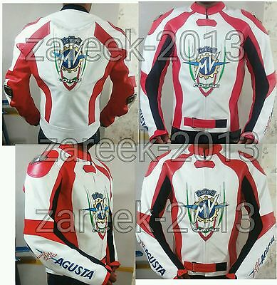 Mv agusta motorbike motorcycle motogp  leather racing jacket all size