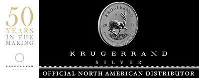 IN STOCK!!! -1 oz Krugerrand Silver Coin 2017 - Premium Uncirculated Krugerrand