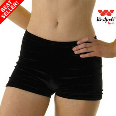 girls gymnastics shorts, velour shorts, dance shorts, black velvet shorts