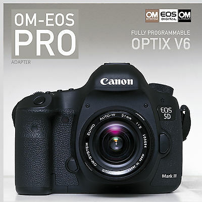 ***PRO: ADAPTER – OLYMPUS OM ZUIKO to CANON EOS EF / active / fully programmable