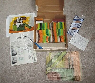 Vintage Malina Puppy Package Latch Hook Rug Kit 2004-006 80's Boxed NOT STARTED