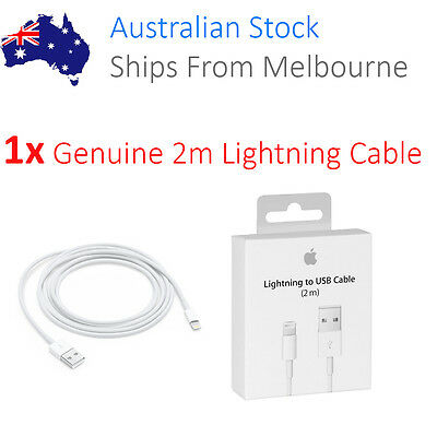 2M Apple ORIGINAL GENUINE Lightning Data Cable Charger for iPhone 5 S C 6 iPad