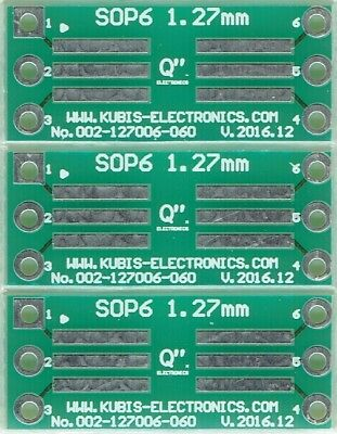 "3 PCS. - SO6,SOP6,SOIC6 1.27mm(0.05"") to DIP6 0.6"" socket. [AU]"