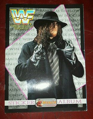 WWF (WWE) Wrestling Official 1994 Merlin Sticker Album The Undertaker Retro