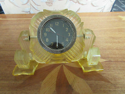 VINTAGE MILITARY TANK MECHANICAL WIND-UP TABLE CLOCK 1960's USSR SOVIET ERA
