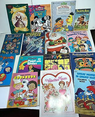 Vintage Coloring Book Lot TV Character Disney Space Kids 80s and older (C)