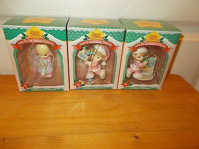 PRECIOUS MOMENTS: Lot of 3 Home For The Holidays Collection Ornaments