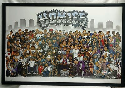 """"""" Homies """" ~ Framed picture ~ 36"""" x 24"""""""