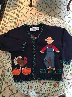 Kitestrings Hartstrings Halloween Thanksgiving Pumpkin Sweater Unisex Toddler 4T