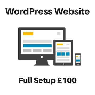 Your Own WordPress Website Setup in 24 Hours For £100