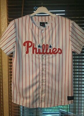 Philadelphia Phillies Replica Majestic /mlb Jersey. Size 13-15 Years. Mint