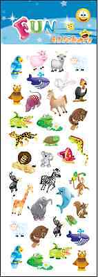 """Beautiful Fun Stickers """" Sparkling Animals """" For Cards & Craft"""