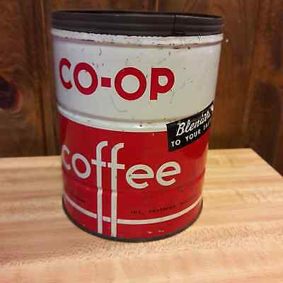 CO-OP 2 lb Coffee Can From Old-Time Farm Auction #2