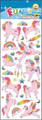 "Beautiful Fun Stickers "" Unicorns "" For Cards & Craft"