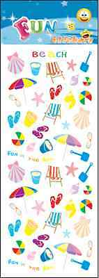 """Beautiful Fun Stickers """" At The Beach """" For Cards & Craft"""