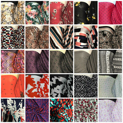 Viscose Elastine Stretch Fabric Florals, Geometric, Paisley Print Material