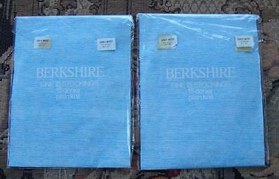 A60 - 2 Pairs Of Berkshire Vintage Stockings, Strümpfe, Bas - Size 9.5-10