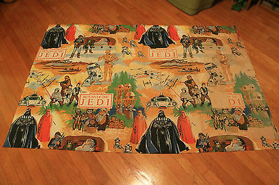 """Star Wars, Return of the Jedi Curtains, Vintage, 64""""x44"""", Rare, Tapestry, Fast!"""