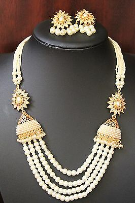 Indian Bollywood Jewellery Ethnic pearl necklace set 87 REDUCED