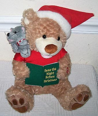 Talking & Mouth Moving BEAR & MOUSE Plush Whole TWAS THE NIGHT BEFORE CHRISTMAS