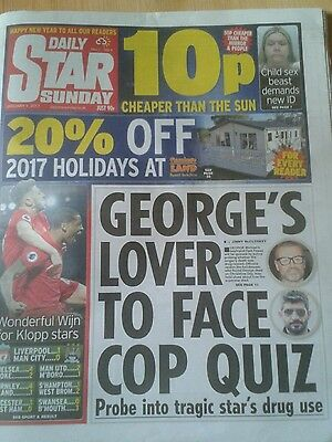 SUNDAY STAR NEWSPAPER-Jan 1 2017-George Michael Death Lover to Face Police Quiz.
