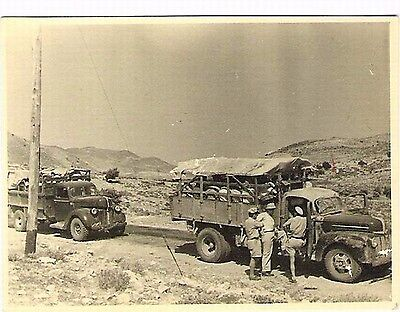 Judaica Palestine/Israel  Old Small Photo Convoy To Jerusalem 1948 ?