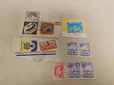 1960's 1970's Lot COSTA RICA Stamps Cancelled