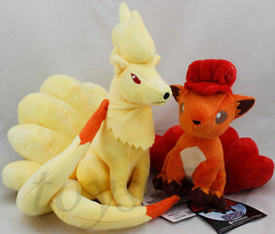 "Pokemon Ninetales and Vulpix Fox 9.5"" Stuffed Animal Nintendo Cartoon Plush Toy"