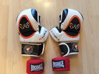 Rival MMA sparring Gloves With Hand wraps