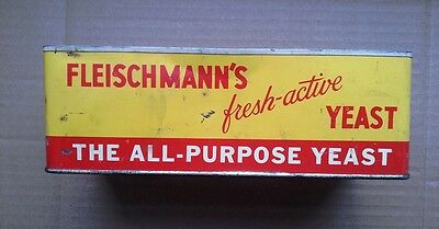 Advertising Fleischmann's Fresh Active Yeast American Can Company Vintage Tin