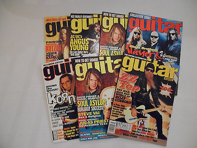 Collectible Lot of 7 Guitar School Back Issue Magazines (2A1)(MC)