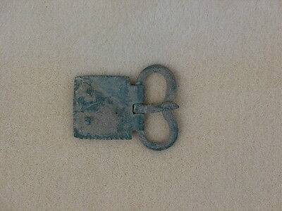 "Ancient Roman belt buckle and belt plate still attached 1 3/4"" long 1 1/2"" wide"