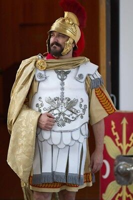 Roman Legate Tribune Officer gold decorated cape cloak gold and silver medallion