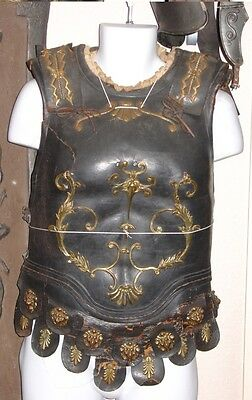 Roman Officer Hollywood Prop Sword and Sandal Movie leather brass armor costume