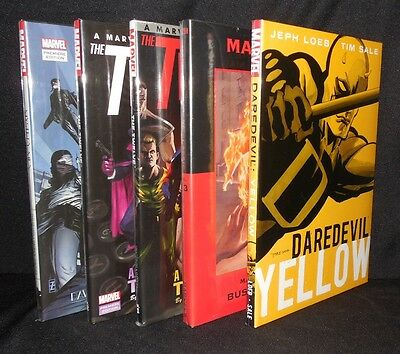 Lot Of 5 Marvel Premiere Hc Daredevil Spider-Man Pulp Style Free Shipping
