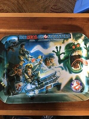 The Real Ghostbusters Tv Lap Tray Stand Vtg Wall Art Hanging