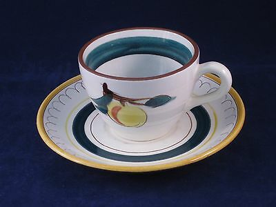 Stangl FRUIT Peach Cup & Saucer Excellent