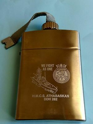 CANADA NAVY MILITARY FLASK ZIPPO ATHABASKAN DDH 282 new